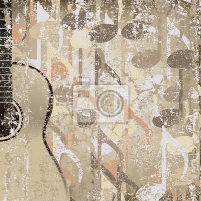 abstrakt geknackt Hintergrund akustische Gitarre