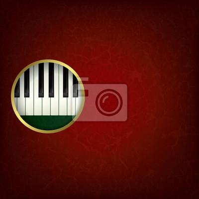 abstrakt Grunge-Musik-Hintergrund mit Klavier
