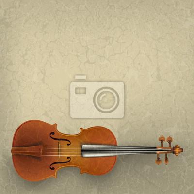 abstrakt Grunge-Musik-Hintergrund mit Violine