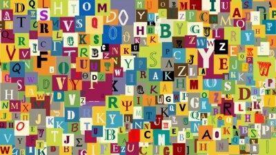 Fototapete Abstrakt Hintergrund Buchstaben