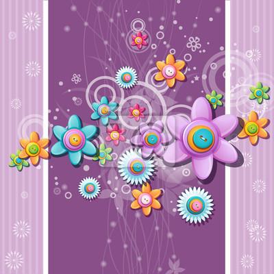 Abstrakt Hintergrund der Schaltflächen in der Form von Blumen.