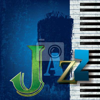 Abstrakt Jazzmusik Hintergrund