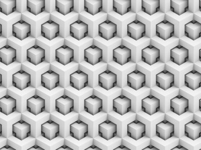 Fototapete Abstrakt polygonalen 3D-nahtlose Muster - geometrische Kastenstruktur Hintergrund