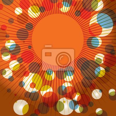 Abstrakt Retro Sunburst Hintergrund