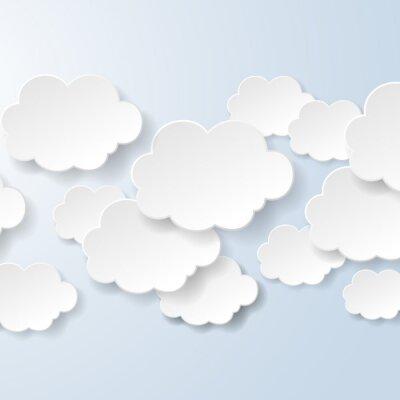 Fototapete Abstrakt Sprechblasen in Form von Wolken in einem sozialen verwendet