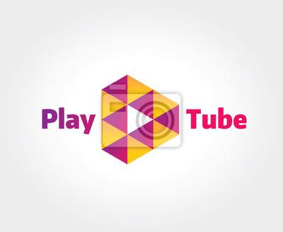 Abstrakt video-hosting-logo-vorlage für branding und design ...