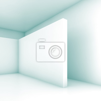 Abstrakt Weiß Leer Raum 3d Render Fototapete Fototapeten Minimal