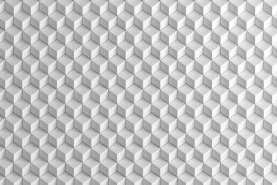 Fototapete Abstrakt White Boxes Treppe Textur Hintergrund 3d