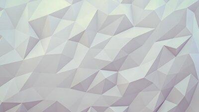 Fototapete abstrakte 3D-Darstellung Hintergrund. Techno Dreiecks Low-Poly-Hintergrund