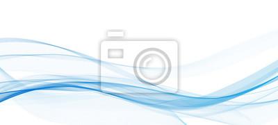 Fototapete Abstrakte blaue Linie Welle whit Hintergrund