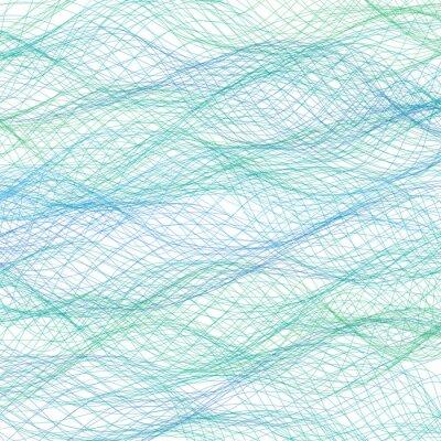 Fototapete Abstrakte blaue Linien Hintergrund. Vector