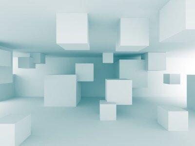 Fototapete Abstrakte chaotische Cubes Bauplanung Hintergrund