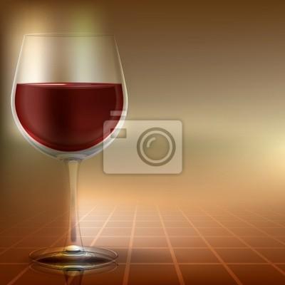 abstrakte Darstellung mit Weinglas