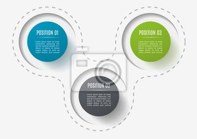 Abstrakte elemente des graphen, diagramm mit 5 schritten, optionen ...