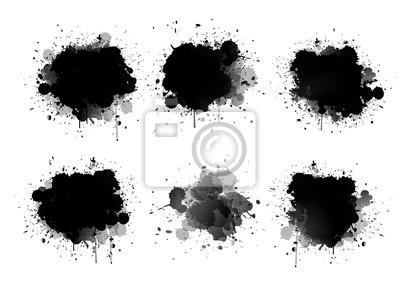 Fototapete Abstrakte Farbe Spritzer gesetzt für Design verwenden. Splatter Vorlage gesetzt. Grunge Vektor-Illustration Hintergrund.