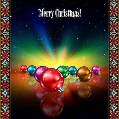 abstrakte Feier-Gruß mit Weihnachtsschmuck