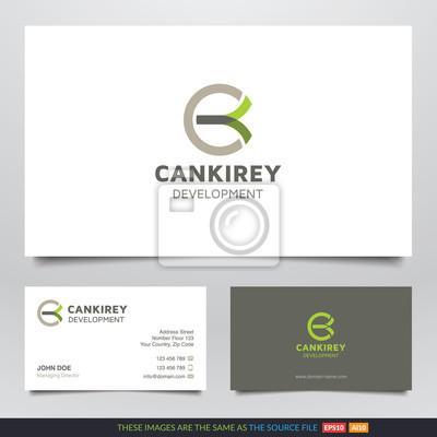 Abstrakte Form Accounting Logo Und Visitenkarten Design