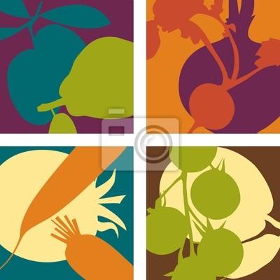 abstrakte Fruchtgemüse Designs