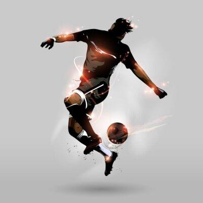 Fototapete abstrakte Fußball Springen Touch Ball