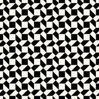 Fototapete Abstrakte Geometrische Schwarz Weiß Grafik Fliesen Einzigartiges