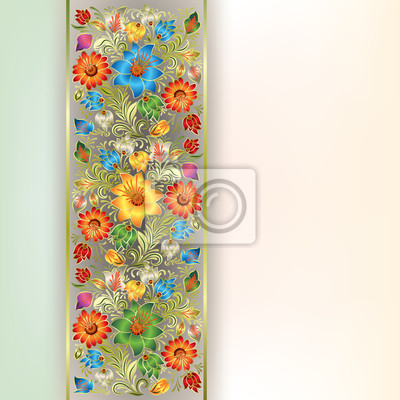 abstrakte Grunge-Hintergrund mit floralen Ornament