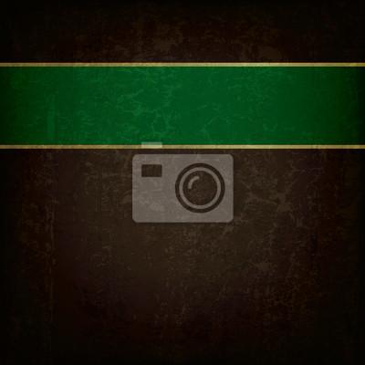 abstrakte Grunge-Hintergrund mit grünem Band