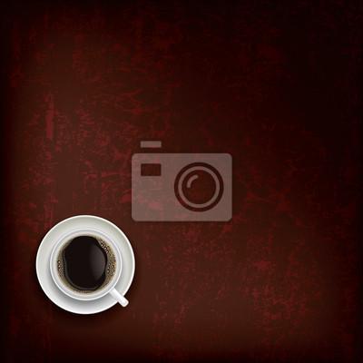 abstrakte Grunge-Hintergrund mit Kaffeetasse