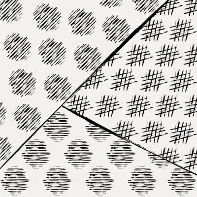 Fototapete Abstrakte Hintergrundmuster, mit Schlägen und Spritzer, schwarz an