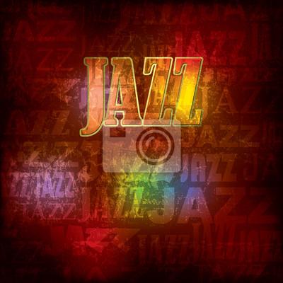 abstrakte Holz rotem Hintergrund mit Wort Jazz