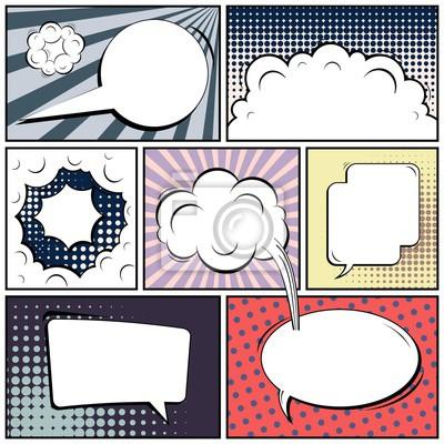Abstrakte kreative konzept vektor comic pop art stil leer, layout ...