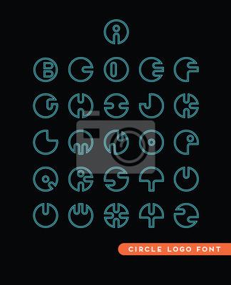 Abstrakte kreisförmige Buchstaben-Logos für die Unterstützung Sie bei der Schaffung von modernen schlanke Branding-Konzepte und Pakete.