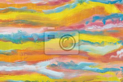 fototapete abstrakte kunst backgroundbright farben abstrahierte wellen lmalerei auf leinwand schaffung