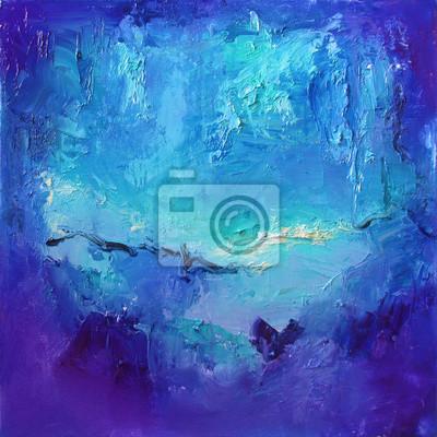 fototapete abstrakte kunst in blau trkis und lila lgemlde auf leinwand