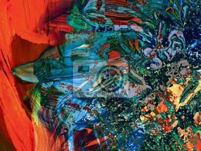 Abstrakte kunst. kreative abstrakte hand gemalt hintergrund ...