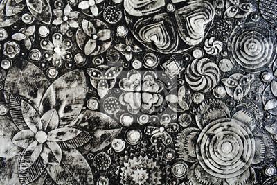 Abstrakte Kunst Leinwand abstrakte kunst schwarz weiß grunge acryl auf leinwand, 3d-kunst
