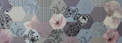 Fototapete Abstrakte Mosaikfliesen Portugiesisch