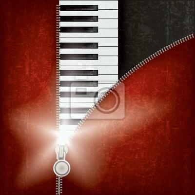 abstrakte Musik Hintergrund mit Klavier