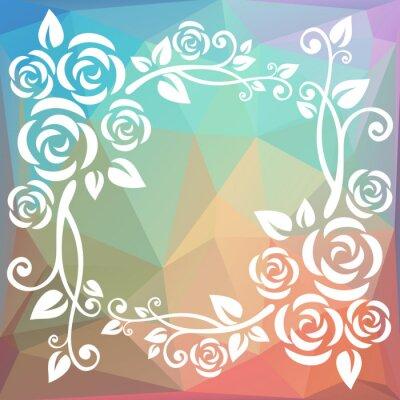 Fototapete Abstrakte polygonale Grenze