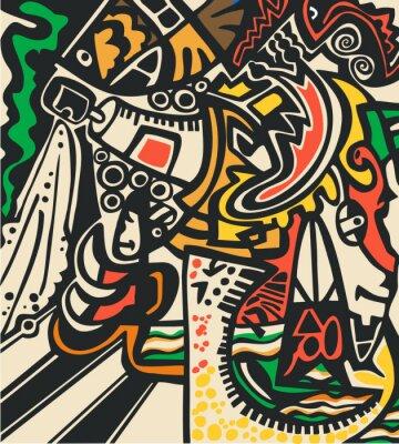 Fototapete Abstrakte psychedelische Hintergrund