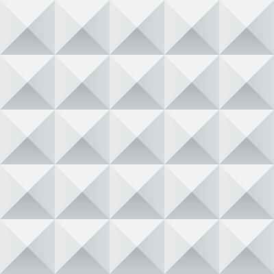 Fototapete Abstrakte weiße und graue geometrische Quadrate nahtlose Muster