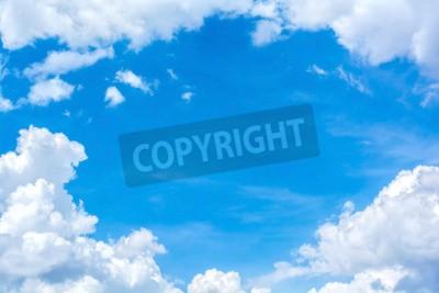 Fototapete Abstrakte weiße Wolke auf den blauen Himmel