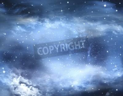Fototapete Abstrakte Winterhimmel, Hintergrund