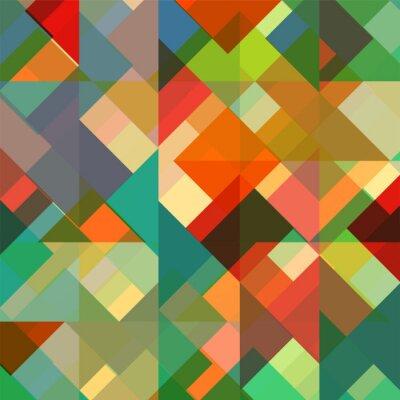 Abstrakten Geometrischen Hintergrund Mit Stilvollen Retro Farben