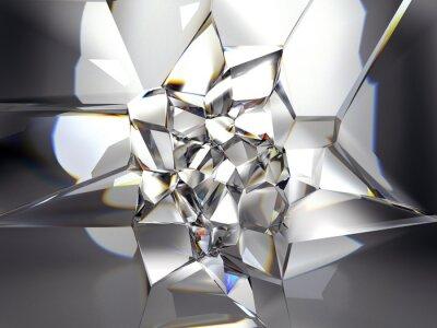 Fototapete abstrakten Hintergrund Kristall