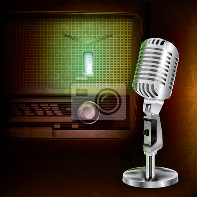abstrakten Hintergrund mit Mikrofon und Radio