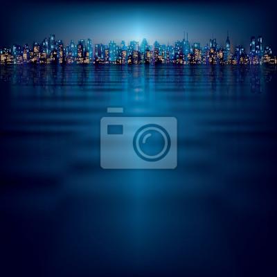 abstrakten Hintergrund mit Silhouette der Stadt