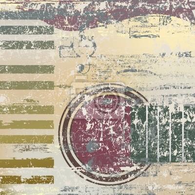 abstrakten Jazz Hintergrund Klavier-Tasten und Gitarren