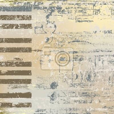 abstrakten Jazz Hintergrund Tasten eines Klaviers auf beige