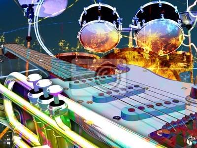 abstrakten jazz rock Hintergrund Musikinstrumente