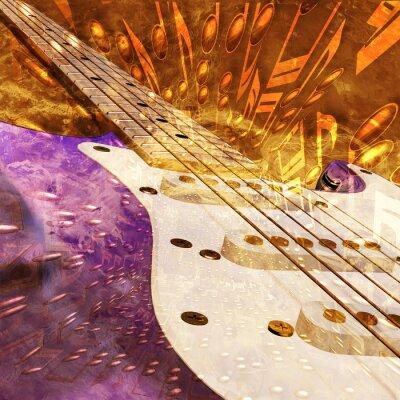abstrakten musikalischen Hintergrund E-Gitarre